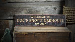 custom oarhouse lake house sign