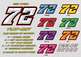 Flat Out Race Car Number Decals Lettering Number Fonts Lettering Numbers Font