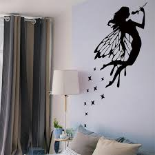 New Fairy Girl Wall Stickers For Living Room Bedroom Kids Rooms Removable Wallpaper House Decoration Accessories Diy Mural Decor Wall Stickers Aliexpress