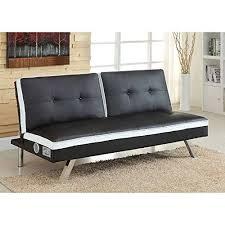futon white and black futon sofa