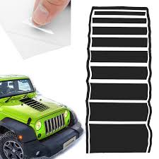 Jeep Wrangler Jk Tj Yj Hood Blackout Strobe Stripes Vinyl Decal Sticker Fits Auto Parts And Vehicles Other Car Truck Decals Stickers Magenta Cl