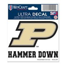 Purdue University Boilermakers Hammer Down 3x4 Ultra Decal At Sticker Shoppe