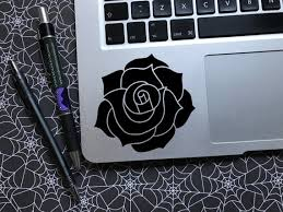 Rose Vinyl Decal Car Decal Laptop Decal Floral Decal Etsy
