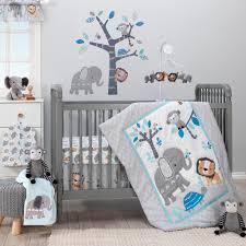 jungle fun gray blue white elephant