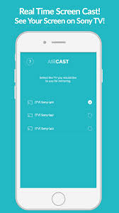 air cast sony smart tv mirror app for