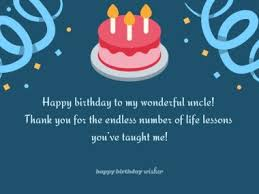 birthday wishes for uncle happy birthday wisher