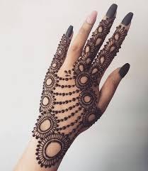 Attractive Jewellery Mehndi Design Back Hand