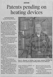 Patents pending on heating devices