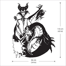 Maleficent And Dragon Vinyl Wall Art Decal