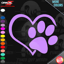 Heart Paw Dog Cat Love Animals Pet Pk Rhinestone Bling Car Decal Sticker 51 19 For Sale Online Ebay