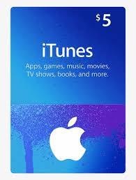 itunes gift card 5 apple transpa