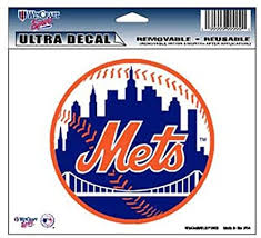 Amazon Com Wincraft Mlb New York Mets 14424031 Multi Use Colored Decal 5 X 6 Automotive Decals Sports Outdoors