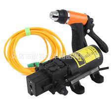 Bộ máy rửa xe ô tô mini với vòi xịt áp lực nước siêu mạnh Kèm bộ chuyển  nguồn điện 220v sang 12v 5A dùng cho gia đình tr