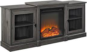 classic tiered top fireplace tv