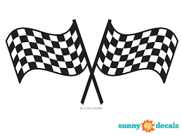Sunny Decals Racing Checkered Flags Fabric Wall Decal Reviews Wayfair
