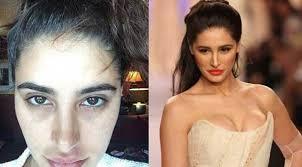 famous bollywood actress without makeup