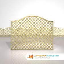 Omega Diamond Trellis Fence Panels 5ft X 6ft Natural