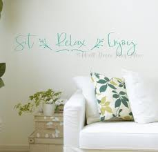 Sit Relax Enjoy Home Wall Art Quotes Vinyl Decal Room Decor Sticker