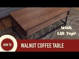 easy to make coffee table with lift up