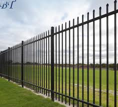 China Powder Coated Black Commercial Steel Iron Metal Fencing Fence China Garden Fence And Steel Fencing Price