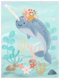 Sea Life Friends Narwhal Beach Ocean Canvas Wall Art Oopsy Daisy