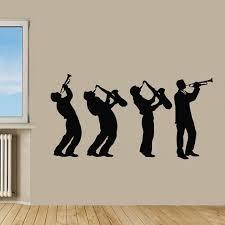 Shop Music Group Interior Design Boys Playing Saxophone Wall Decor Vinyl Sticker Home Decor Sticker Decal Size 44x60 Color Black Overstock 14539664