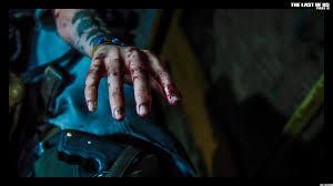 ellie blood hand 8k 4k hd wallpaper