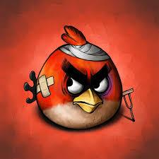 Exelentes dibujos de Angry Birds despues del juego
