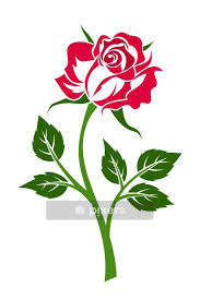 Red Rose With Stem Vector Illustration Wall Decal Pixers We Live To Change