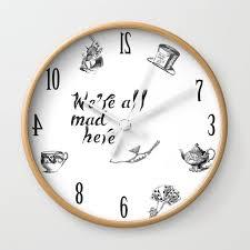 classic alice in wonderland wall clock