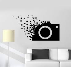 Vinyl Wall Decal Retro Camera Photographer Cubes Stickers Unique Gift 1354ig Wall Painting Decor Wall Decals Vinyl Wall Decals