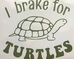 I Brake For Turtles Etsy