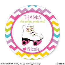 Roller Skate Stickers Roller Skate Favor Tags Zazzle Com