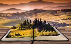 landscape book 4k wide wallpaper