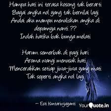 hampa hati ini terasa kos quotes writings by esti