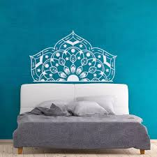 Yoyoyu Half Mandala Wall Decal Bedroom Headboard Modern Design Moraccan Style Art Mural Yoga Studio Vinyl Wall Sticker Diy Zw314 Wall Stickers Aliexpress