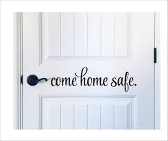 Come Home Safe Decal Vinyl Decal Door Decal Policeman Etsy