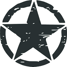 Amazon Com Misc Decals Army Rought Star Vinyl Car Decal Black 10 By 10 Inches Automotive