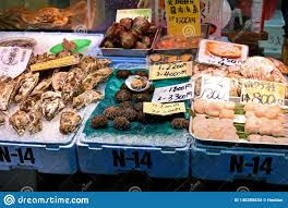 Fresh Seafood On Sale At Kuromon Ichiba ...