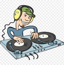 stock disc jockey cartoon ilration