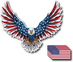Amazon Com Bald Eagle American Flag Sticker Decal 5 X 6 Inch 3m Vinyl Decal 6 Pack Arts Crafts Sewing