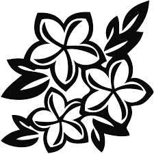 flower crown clipart free stock black