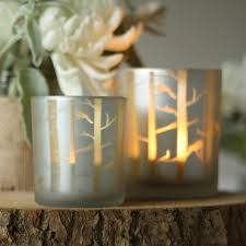 frosted glass tea light holder with