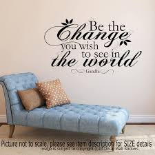 Gandhi Be The Change You Wish To See In The World Wall Etsy