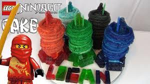 LEGO NINJAGO cake! How to make The Masters of Spinjitzu and Gummy ...