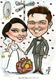 caricature wedding gift caricatures