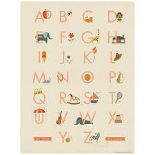 My First Abc Alphabet Chart Vinyl Sticker For Girls At Retro Planet