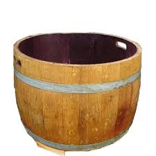 Millwood Pines Adele Wood Barrel Planter | Wayfair