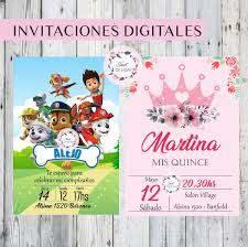 Invitaciones Digitales Boda 15 Anos Cumpleanos Comunion 280 00 En Mercado Libre