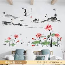 Vova Bedroom Wedding Room Warm Vase Bedside Wall Sticker Living Room Sofa Self Adhesive Decorative Wallpaper Removable Wall Sticker Painting
